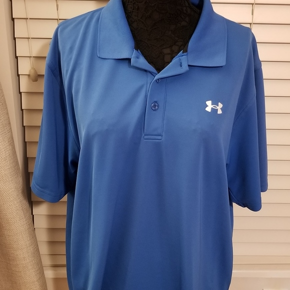 6ba7bcb3 Under Armour Men's Blue Polo- Size XL. M_5b7b6ac14ab633a7f2efc2b7. Other  Shirts ...